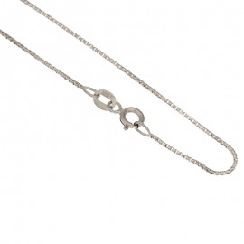 White gold 18Kt 750/1000 venetian chain shiny unisex necklace