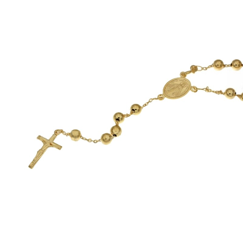 Yellow gold 18Carat rosary necklace, gr 10.00