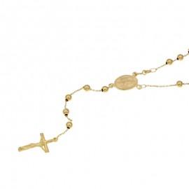 Collana Rosario in oro giallo 18Kt 750/1000 Unisex