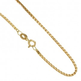Yellow gold 18Carat venetian unisex necklace gr 10,20
