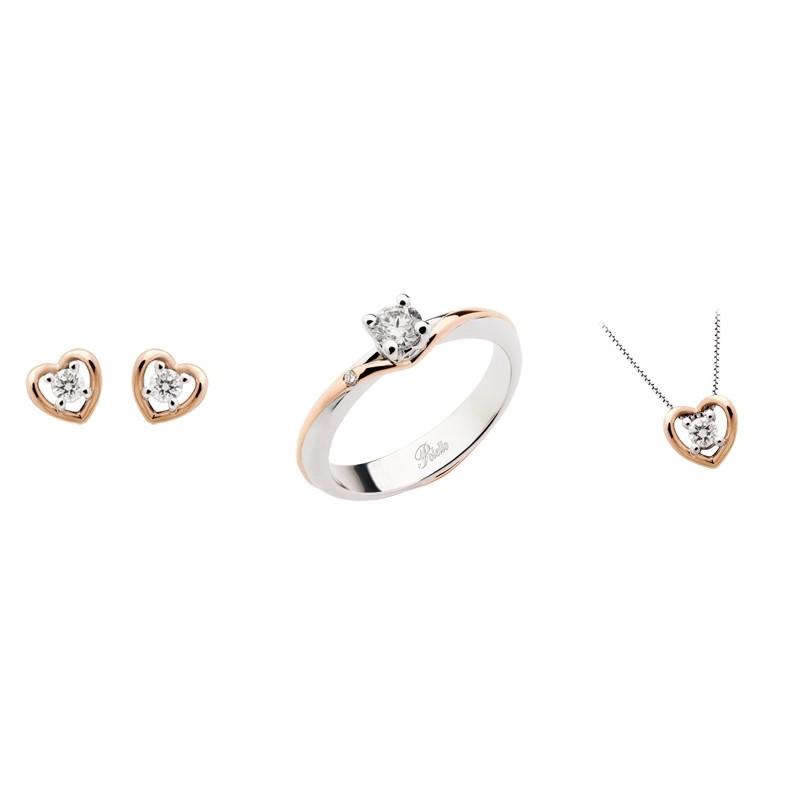 Gold 18Kt and diamonds jewelry sets Polello woman