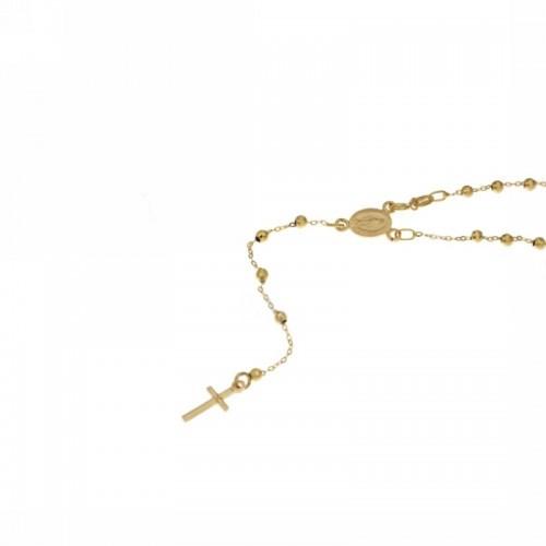 Rosario in oro giallo 18Kt 750% 50cm da donna