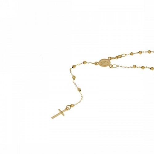 Rosary necklace yellow gold 18 carat 19.7 inch woman