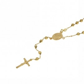 Yellow gold 18Kt 750/1000 with faceted spheres rosary necklace