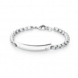 S'agapõ stainless steel, white crystal, bracelet SAB11