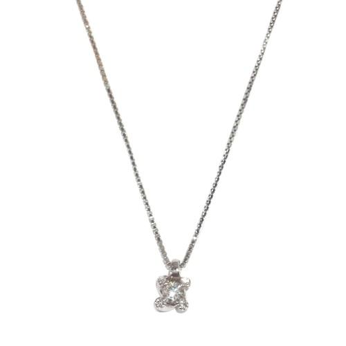 White gold 18Kt and diamonds woman necklace Polello