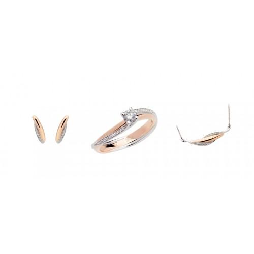 Gold 18Kt and diamonds jewelry sets Polello