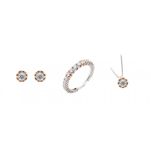 Gold 18Kt and diamonds jewelry sets Polello