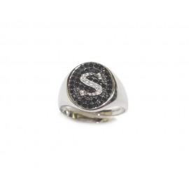 Sterling silver 925% letter ring
