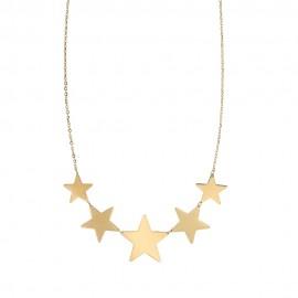 Collana in Oro giallo 18Kt 750/1000 con stelle