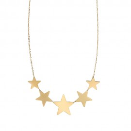 Yellow gold 18 Kt 750% stars necklace