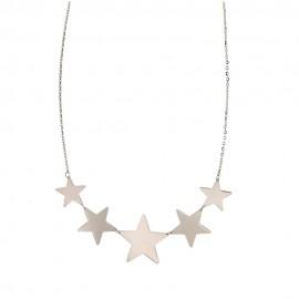 Collana in Oro bianco 18Kt 750% con stelle