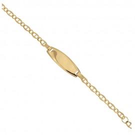 Bracciale in Oro giallo 18 Kt 750% con piastra