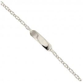 Bracciale in Oro bianco 18 Kt 750% con piastra rettangolare
