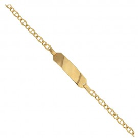 Yellow gold 18 Kt 750/1000 shiny children bracelet
