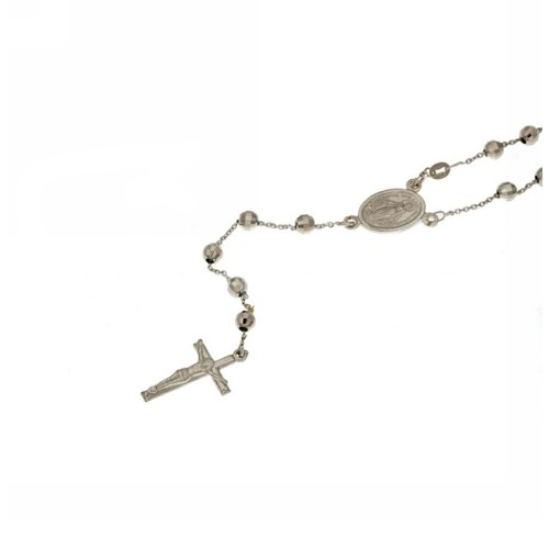 White gold 18 Kt Rosary necklace, 14.20 grams