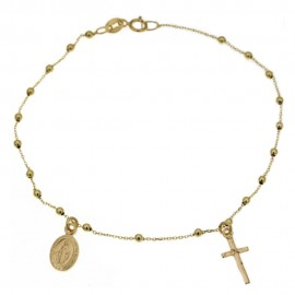 Yellow gold 18 Kt 750% rosary bracelet 1.50 gr