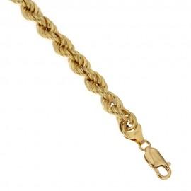 Bracciale in oro giallo 18kt 750 a maglia intrecciata