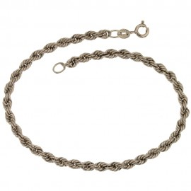 White gold 18Kt 750/1000 interlaced chain woman bracelet