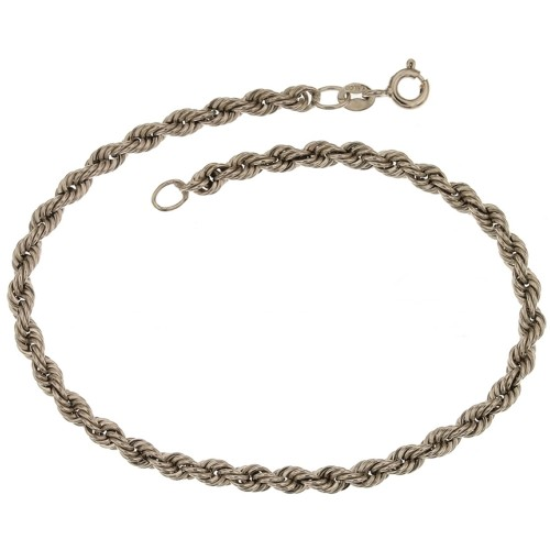 White gold 18 k, interlaced chain bracelet
