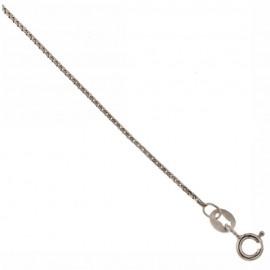 White gold 18kt 750% anklet 9.85 inch