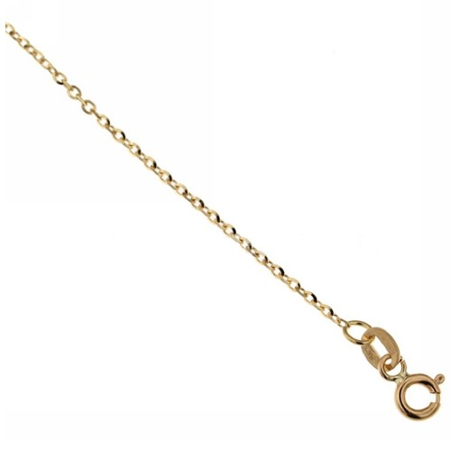 Yellow gold 18kt 750% rolò chain anklet