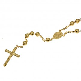 Yellow gold 18k length 19.70 inch Rosary necklace