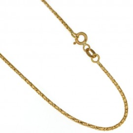 Catenina in oro 18 Kt 750/1000 maglia coreana lucida