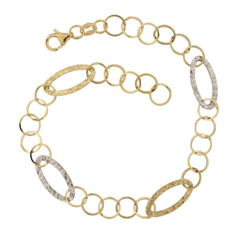 Gold 18 K chain link woman bracelet
