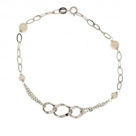 Gold 18 k woman bracelet with pearls
