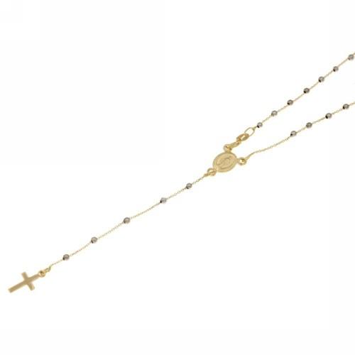 Girocollo rosario in Oro 18 Kt 45 cm