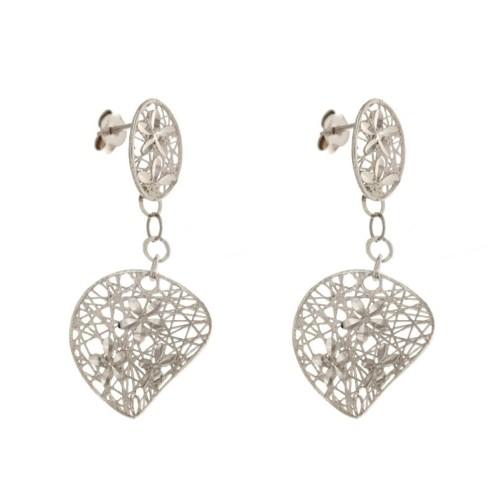 Gold 18 K long earrings