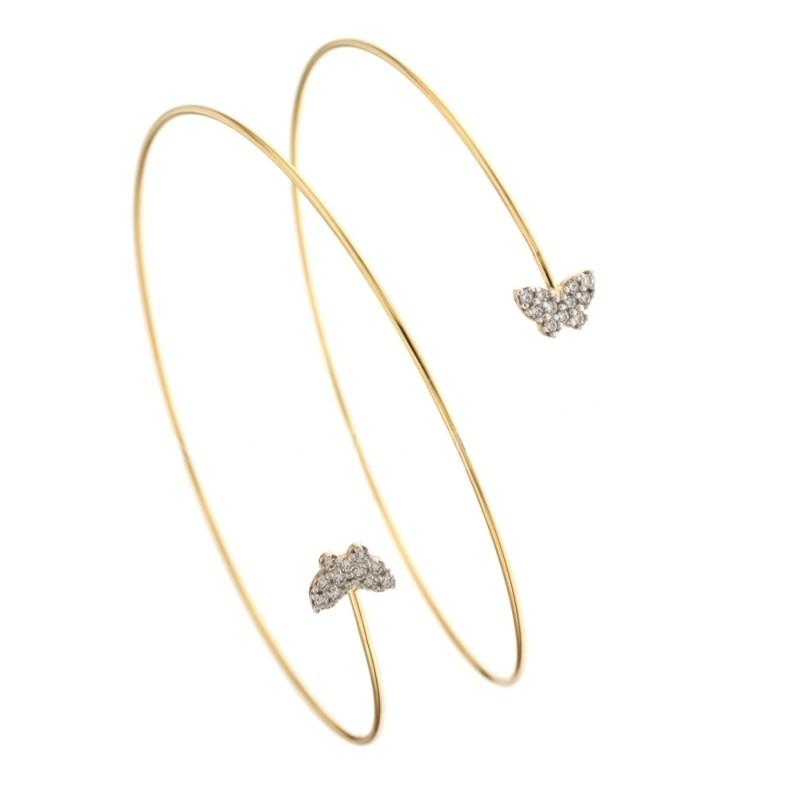 Gold 18 k alternating bar bracelet