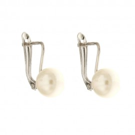 Gold 18 K pearls woaman earrings