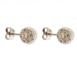 Orecchini in oro 18 Kt 750/1000 con sfere sfaccettate da donna