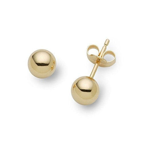Gold 18 K smooth shiny earrings