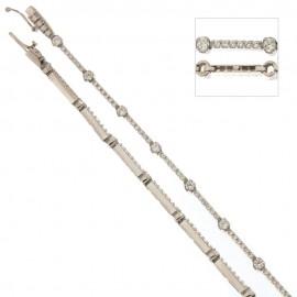 Bracciale Tennis in oro bianco 18 Kt 750/1000 con pietre alternate da donna