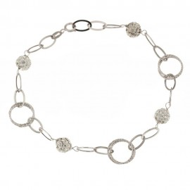 Gold 18 Kt 750/1000 with white cubic zirconia woman bracelet