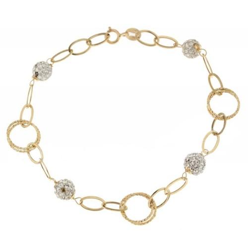 Gold 18 K woman chain bracelet