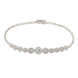 White gold 18 K wedding bracelet