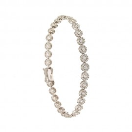 White gold 18 K semirigid wedding bracelet