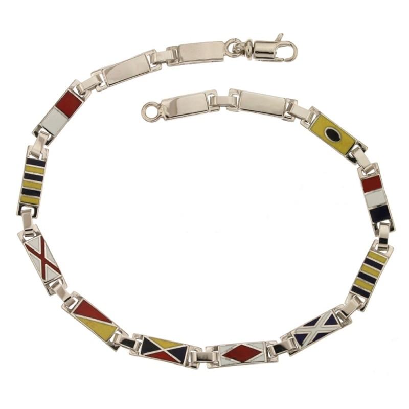 Gold 18 K flag bracelet