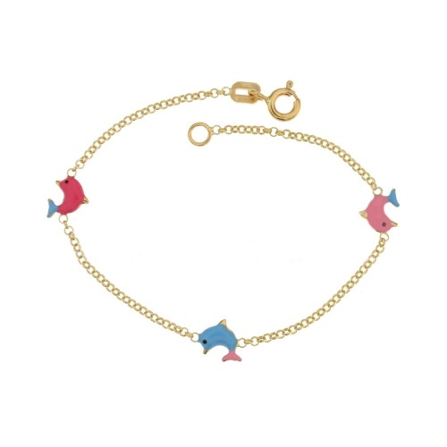 Yellow gold 18Kt 750% bracelet for kids