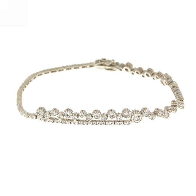 White gold 18 K wedding collection bracelet