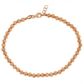 Gold 18Kt 750/1000 with hammered spheres bracelet
