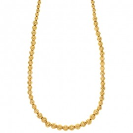 Gold 18 K hammered graduated spheres necklace
