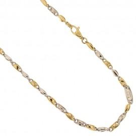 Collana in oro 18 Kt maglia tubolare vuota
