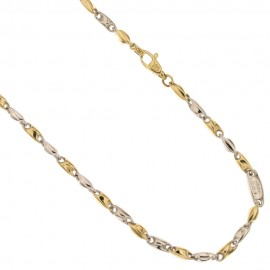 Gold 18 K chain link man necklace