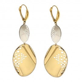 Gold 18 K pendant woman earrings