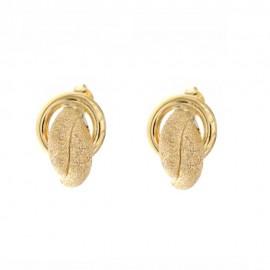 Orecchini in oro giallo 18 Kt diamantati donna